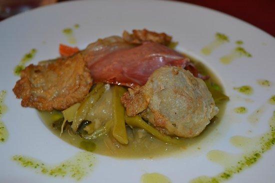 Restaurante Casa Marisa: menestra de verduras