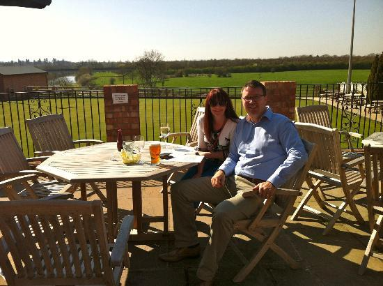 The Corbet Arms: The sun terrace overlooking the River Severn