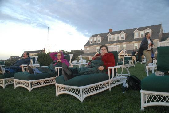 The Wauwinet: Relaxing with a cup of tea at Sunset