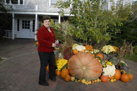 The Wauwinet: Posing by the the HUGE pumpkin