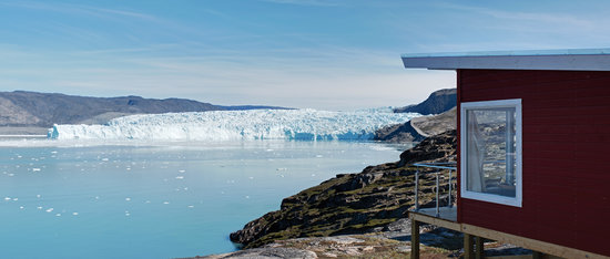 Ilulissat, Greenland: Ice Camp Eqi - Eco Lodge at the calving glacier