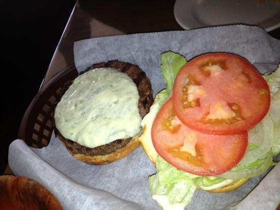 Rooster's Restaurant: Burger With Blue Cheese