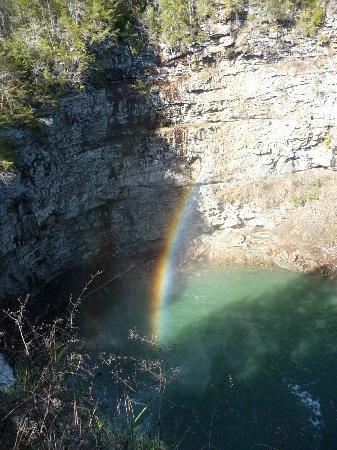 Fall Creek Falls State Park: Rainbow in the mist