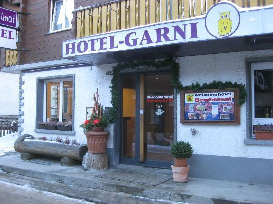 Hotel Garni Bergheimat : Front entrance