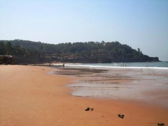 Sinquerim, Hindistan: Fort Aguada from the beach