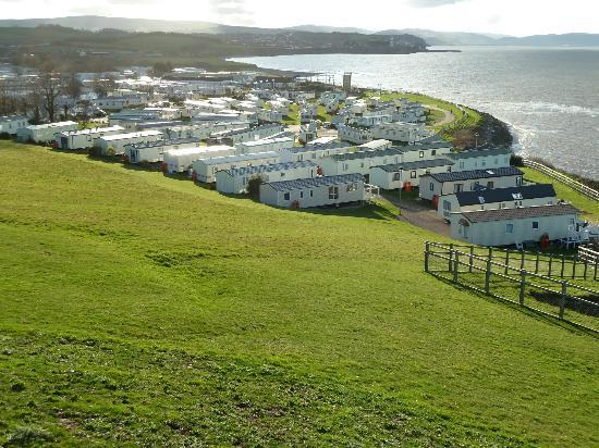 Doniford Bay Holiday Park - Haven: I can see my hoose from here.  lovely location.  Peaceful, just as I had hoped.