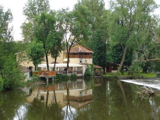 View from the bridge of Restaurant Moulin du Pont
