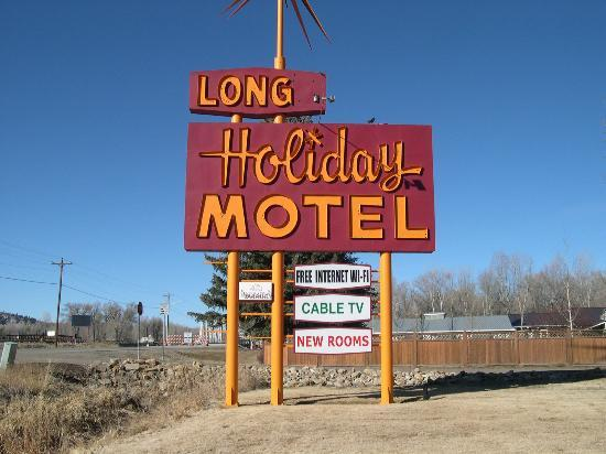 Long Holiday Motel : Classic 1950 sign