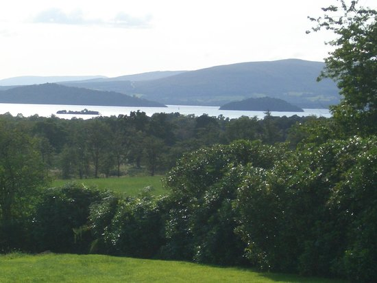 Overmains: Garden overlooks Loch Lomond