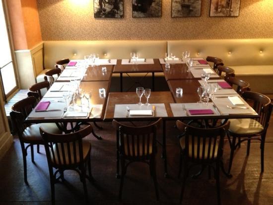 Bistrot des Vignes: Notre table :)