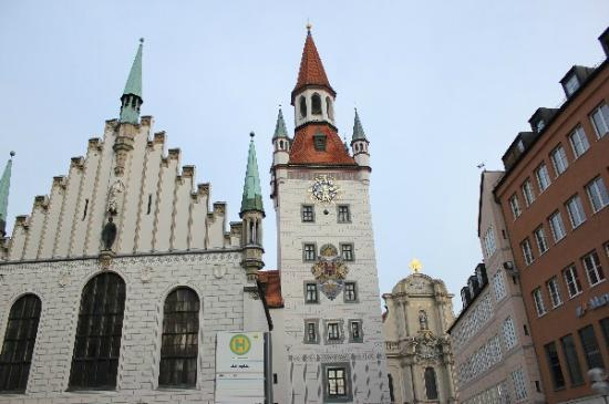Old Town Hall (Altes Rathaus): a closer view of the Old Town Hall, The clock with animal signs.
