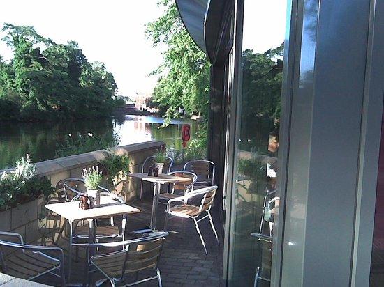 Ego Mediterranean Restaurant - Lichfield : Ego Lichfield, limited outside seating, with a view.