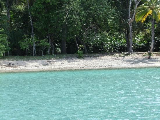 Scuba Panama: One of the sites we snorkeled near--look at that water!