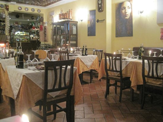 Mangiafuoco Bracerie: Restaurant early in the evening when we arrived. Soon filled up
