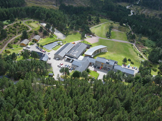 Glenmore Lodge: The Lodge from the Air