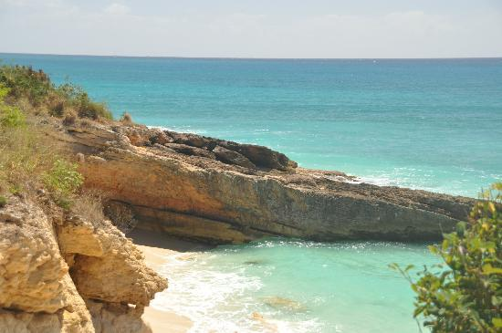 Cupecoy Bay, Sint Maarten: View of Cupecoy Beach