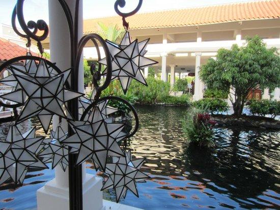 Melia Coco Beach: One of the many lobby pools.