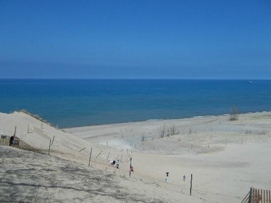 Indiana Dunes State Park View From Mt Baldy National Lakes