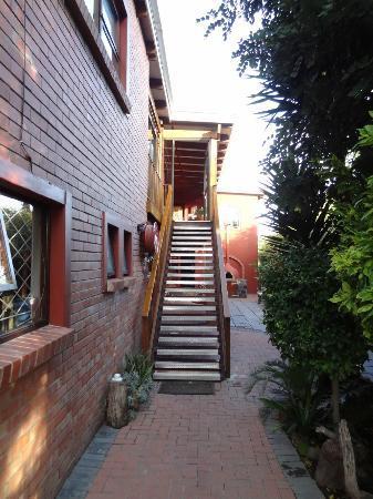Dungbeetle River Lodge: Treppe zu den Zimmern