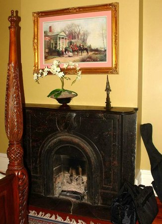 Fireplace In Our Bedroom at The Dresser Palmer House
