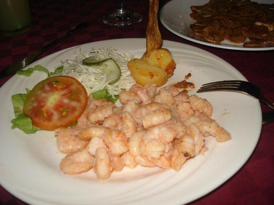La Esquina: shrimp dinner 7 pesos