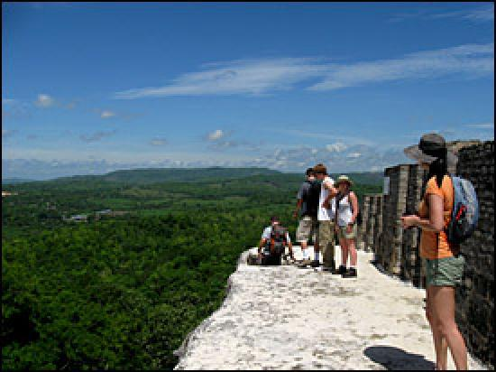 Yute Expeditions Day Tours: Atop El Castillo @ Xunantunich 130 ft off the ground