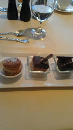 Lacroix at The Rittenhouse: selection of petit desserts chef fred ortega