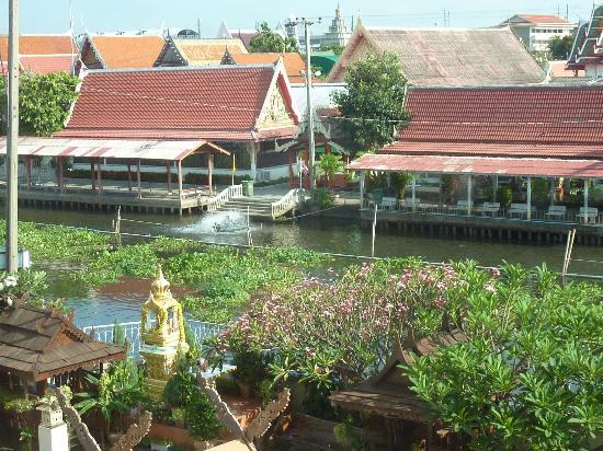 Queen's Garden Resort at River View: Wat across street from Queen's Garden. There's lots of fish in the river.