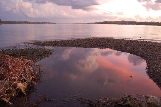 Lake Macquarie: Sunset across the lake