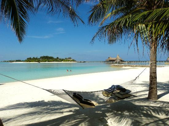 Anantara Dhigu Maldives Resort : Anantara Veli - looking out to Baan Hura