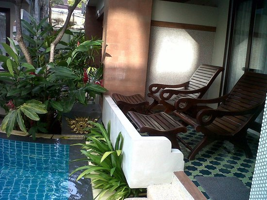 P. P. Palm Tree Resort: Our private balcony, pool access!