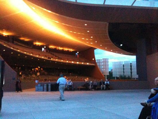 View looking back at the seating picture of santa fe opera house