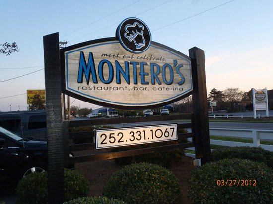 Montero's Restaurant: Storefront Sign