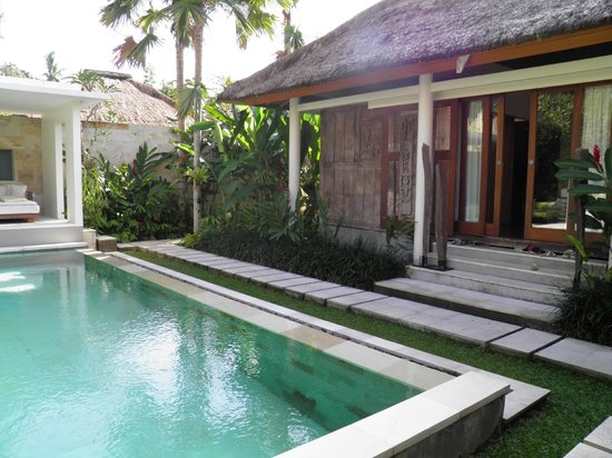 The Purist Villas and Spa: Pool Area and our livingroom