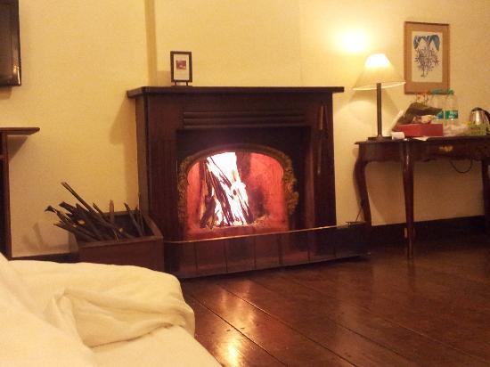سافوي هوتل: Fireplace