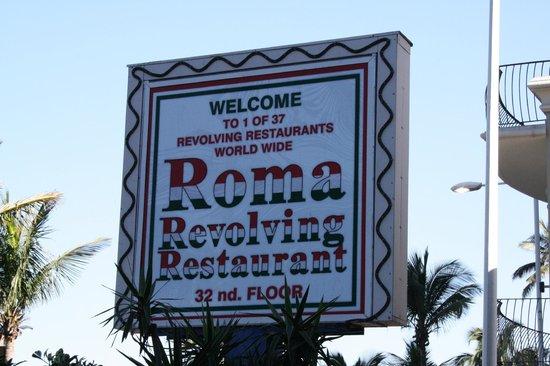 Roma Revolving: Sign at Entrance