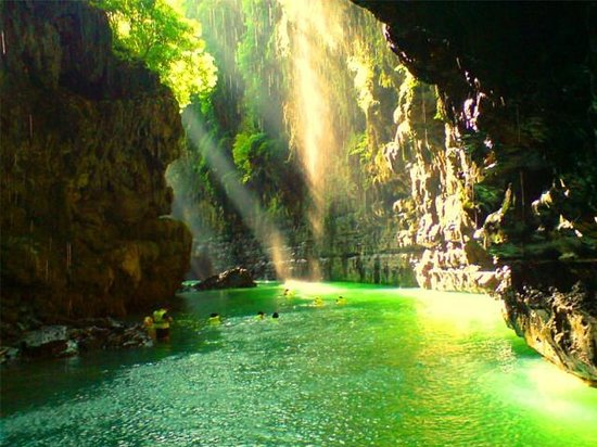 Западная Ява, Индонезия: Green Canyon, Pangandaran - West Java, Indonesia