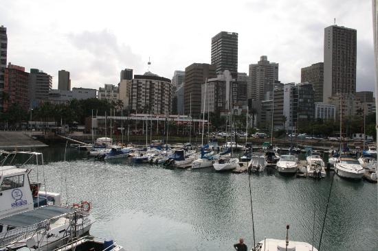 View of Durban city from Cafe Fish