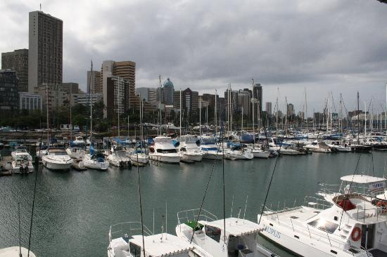 View of Yachts from Cafe Fish, Durban