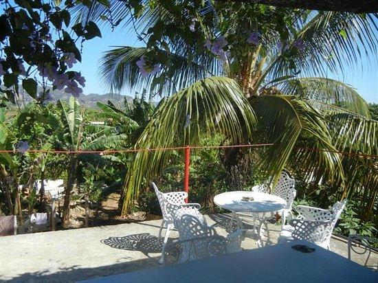 Villa Jorge y Ana Luisa: Vista dalla terrazza sopra il tetto