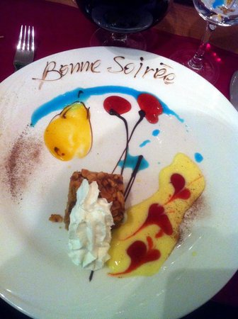 Sierre, Switzerland: Dessert artistique