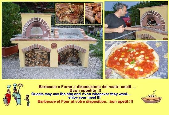 Pergolato di Sotto : Barbeque + Pizza oven