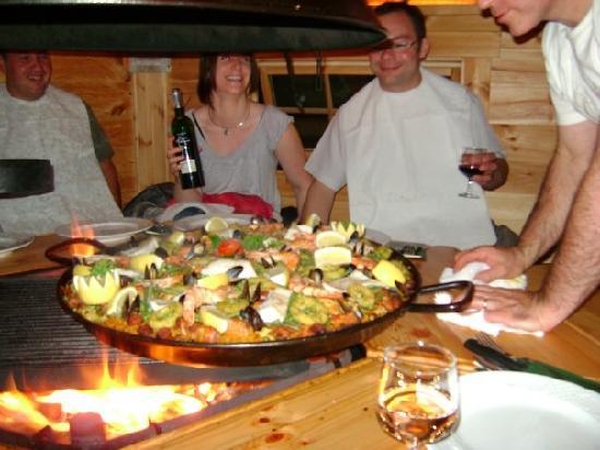 Les Chatelmines La Bresse : Paëlla au Kota grill