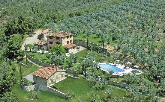Le Capanne Agriturismo: aerial view