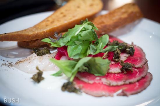 Brooklyn Warehouse : Beef Carpaccio & Scallop Sashimi a.k.a. Surf & Turf