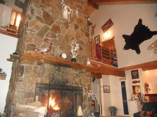 Flagstone Meadows Ranch Bed and Breakfast: The amazing fireplace