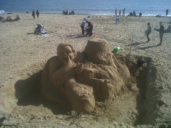 Hotel le Romanesque : sculpture de sable : magnifique !