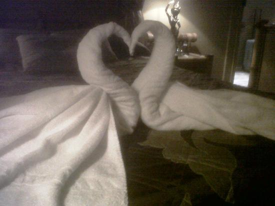 Hotel le Romanesque: super beau le coeur en serviettes !!!