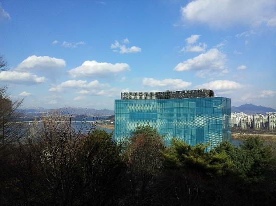 Grand Walkerhill Seoul: view from top of mountain just above sheraton