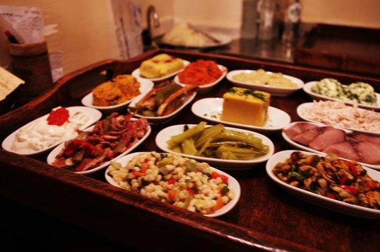 Sofyali 9: The Mezze tray at Sofyali